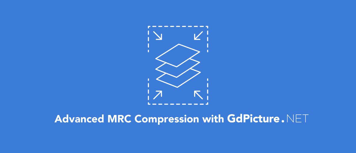 compression icon with text: advanced MRC compression with GdPicture.NET