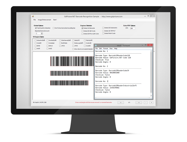 Royalty-Free 1D Barcode Reader and Writer for GdPicture.NET SDK