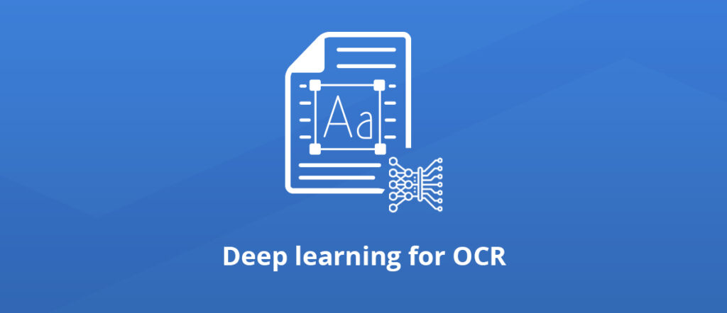 deep learning for OCR: blog article