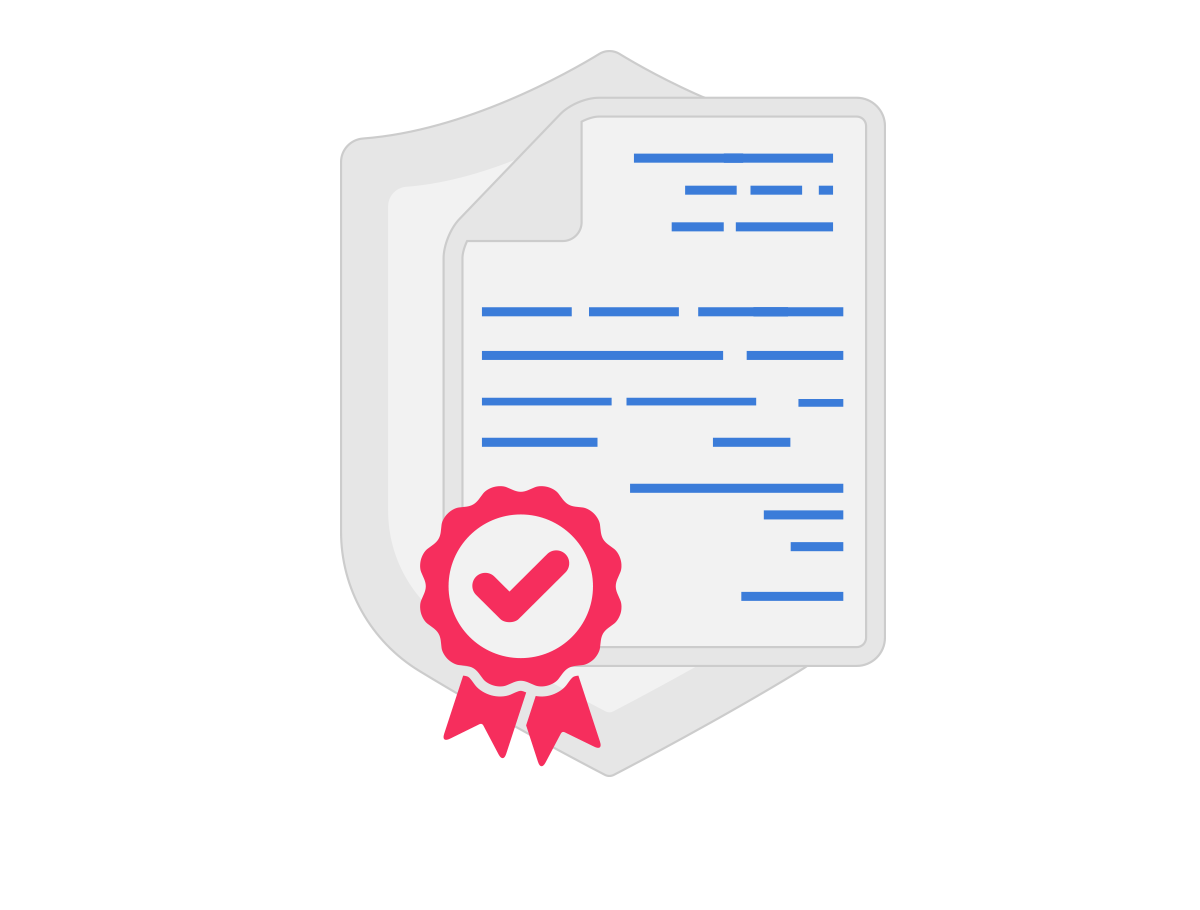 Illustration Digital certificates