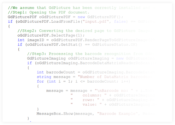 DataMatrix Reader and Generator for GdPicture.NET SDK Example