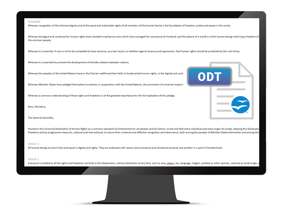 GdPicture.NET OpenDocument Text Viewer