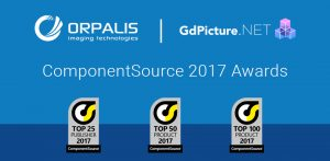 GdPicture.NET and ORPALIS win ComponentSource awards